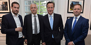 Andrew Parsons, Ben Atfield, Prime Minister David Cameron and Gavin Ellwood